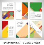 set of a4 cover  abstract... | Shutterstock .eps vector #1235197585
