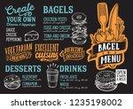 bagel and sandwich menu...   Shutterstock .eps vector #1235198002