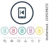 mobile media previous flat...   Shutterstock .eps vector #1235198272