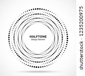 halftone circular vortex dotted ... | Shutterstock .eps vector #1235200975