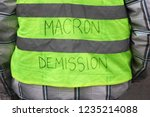 yellow vests protest against... | Shutterstock . vector #1235214088