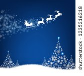 xmas postcard fir tree border... | Shutterstock .eps vector #1235216218