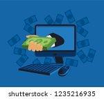 making money online concept ... | Shutterstock .eps vector #1235216935