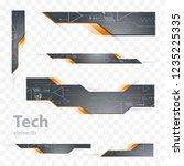 tech header elements grey color | Shutterstock .eps vector #1235225335