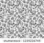 abstract floral pattern on... | Shutterstock .eps vector #1235226745