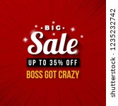 big sale up to 35  off boss got ... | Shutterstock .eps vector #1235232742