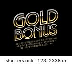 vector logo gold bonus. royal...   Shutterstock .eps vector #1235233855