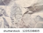 close up of crumpled white... | Shutterstock . vector #1235238805