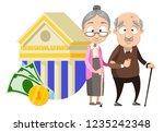 happy elderly couple on...   Shutterstock .eps vector #1235242348