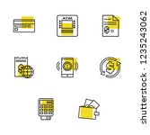 banking icons set with pos...