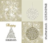 collection of new year set ... | Shutterstock .eps vector #1235243968