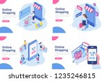 online shopping isometric... | Shutterstock .eps vector #1235246815