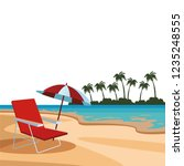 beach and island scenery | Shutterstock .eps vector #1235248555