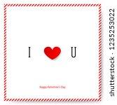 simple heart for valentine's... | Shutterstock .eps vector #1235253022