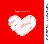 paint brush heart shape for... | Shutterstock .eps vector #1235258392