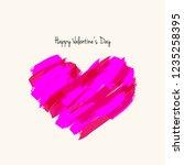 paint brush heart shape for... | Shutterstock .eps vector #1235258395