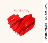 paint brush heart shape for... | Shutterstock .eps vector #1235258398