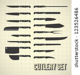vector set  cutlery set  ... | Shutterstock .eps vector #123526486