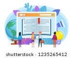 online courses  distant... | Shutterstock .eps vector #1235265412