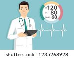 medical doctor with digital... | Shutterstock .eps vector #1235268928