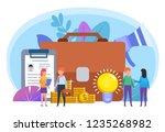 business case  team  office... | Shutterstock .eps vector #1235268982