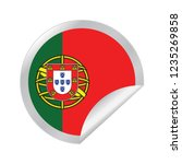 vector portugal circle folded | Shutterstock .eps vector #1235269858