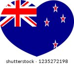 new zealand flag  country of... | Shutterstock .eps vector #1235272198