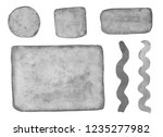 set of gray watercolor elements ... | Shutterstock . vector #1235277982