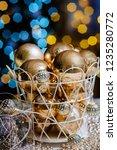 closeup christmas balls for... | Shutterstock . vector #1235280772
