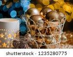 closeup christmas balls for... | Shutterstock . vector #1235280775