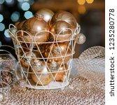 closeup christmas balls for... | Shutterstock . vector #1235280778