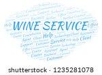 wine service word cloud.   Shutterstock . vector #1235281078