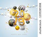 2019 happy new year... | Shutterstock . vector #1235285308