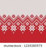 norway festive sweater fairisle ... | Shutterstock .eps vector #1235285575