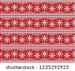 christmas fair isle seamless... | Shutterstock .eps vector #1235292925