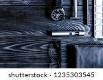 coffee  electronic cigarette ...   Shutterstock . vector #1235303545
