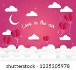 valentine's day concept.paper... | Shutterstock .eps vector #1235305978