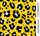 vector illustration leopard... | Shutterstock .eps vector #1235308555
