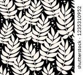 leaves pattern. vector... | Shutterstock .eps vector #1235310952