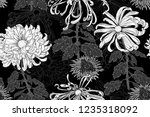 vector seamless floral pattern... | Shutterstock .eps vector #1235318092