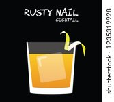 rusty nail cocktail... | Shutterstock .eps vector #1235319928