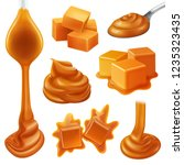realistic caramel candies icon... | Shutterstock .eps vector #1235323435