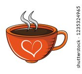 coffee cup with aroma | Shutterstock .eps vector #1235324965