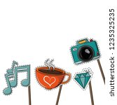 booth prop party elements | Shutterstock .eps vector #1235325235