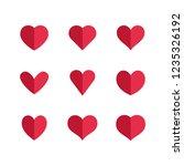 heart icons  symbols of love | Shutterstock .eps vector #1235326192