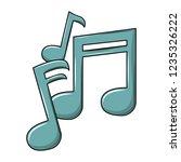 music notes cartoon | Shutterstock .eps vector #1235326222