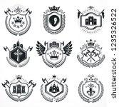 heraldic designs  vector...   Shutterstock .eps vector #1235326522