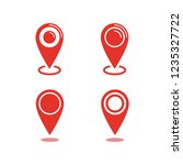 location icon  map pin vector... | Shutterstock .eps vector #1235327722