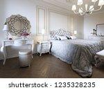 minimalistic classic bedroom ... | Shutterstock . vector #1235328235