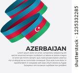 azerbaijan flag for decorative. ... | Shutterstock .eps vector #1235332285